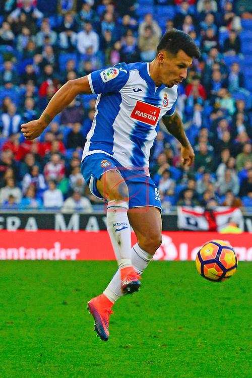 League Santander 2016/2017. Game: 11.<br /> RCD Espanyol vs Athletic Club: 0-0.<br /> Hernan Perez.