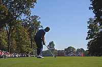 Sergio Garcia (Team Europe) on the 4th tee during the Friday afternoon Fourball at the Ryder Cup, Hazeltine national Golf Club, Chaska, Minnesota, USA.  30/09/2016<br /> Picture: Golffile | Fran Caffrey<br /> <br /> <br /> All photo usage must carry mandatory copyright credit (&copy; Golffile | Fran Caffrey)
