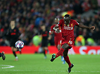 11th March 2020; Anfield, Liverpool, Merseyside, England; UEFA Champions League, Liverpool versus Atletico Madrid;  Sadio Mane of Liverpool  shoots at goal