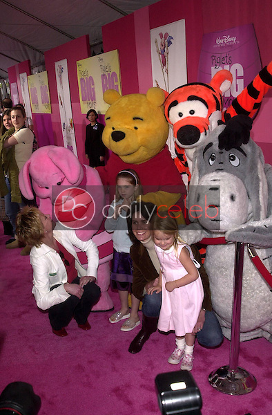 Melanie Griffith and her daughter's and guest