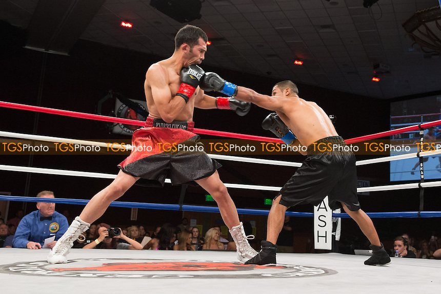Abraham Lopez defeats Adriel Pebenito in a Central Coast Championship Night boxing contest at the Chumash Casino Resort promoted by Gary Shaw Productions - 16/08/13 - MANDATORY CREDIT: Dwight MCCann/TGSPHOTO - Self billing applies where appropriate - 0845 094 6026 - contact@tgsphoto.co.uk - NO UNPAID USE