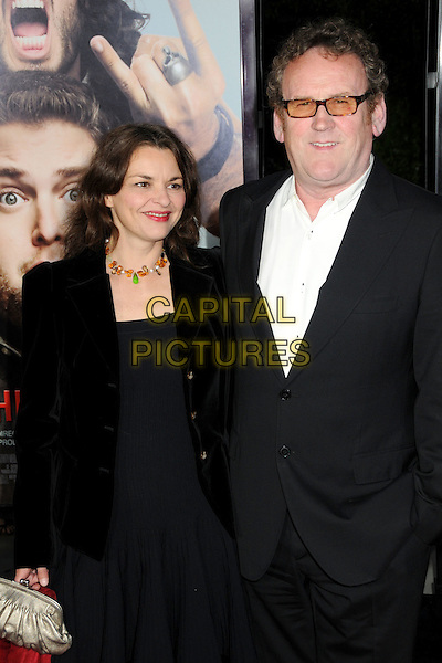 "INES GLORIAN & COLM MEANEY.""Get Him To The Greek"" Los Angeles Premiere held at The Greek Theatre, Los Angeles, California, USA..May 25th, 2010.half length suit jacket dress married husband wife black white tinted glasses.CAP/ADM/BP.©Byron Purvis/AdMedia/Capital Pictures."