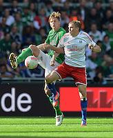 FUSSBALL   1. BUNDESLIGA   SAISON 2012/2013   2. Spieltag SV Werder Bremen - Hamburger SV                     01.09.2012         Sebastian Proedl (SV Werder Bremen) gegen Artjoms Rudnevs (re, Hamburger SV)