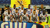 BARRANCABERMEJA- COLOMBIA, 29-09-2018: Los jugadores de Envigado F. C. posan para una foto, antes de partido entre Alianza Petrolera y Envigado F. C. de la fecha 12 por la Liga Aguila II 2018 en el estadio Daniel Villa Zapata en la ciudad de Barrancabermeja. / The players of Envigado F. C. pose for a photo, prior a match between Alianza Petrolera and Envigado F. C. of the 12th date for the Liga Aguila II 2018 at the Daniel Villa Zapata stadium in Barrancabermeja city. Photo: VizzorImage  / Jose D Martínez / Cont.
