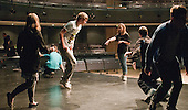 """""""On Fire"""" street dance group rehearsing with choreographer, Hannah Greenslade.  Special Olympics Surrey put on a show,   """"Beyond the Stars"""", at the Rose Theatre, Kingston upon Thames to raise money for the  SOGB team.  The Special Olympics are for athletes with learning disabilities."""