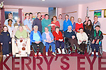 PRESENTATION: Tony O'Donovan from Agriculture Engineering IT Tralee presenting a cheque for €1,500 with monies raised by different fund raising events for the development of a new spiritual feature at Cúl Dídin nursing home to Pauline Comerford of Cúl Dídin Relative Support Group and Residents Council at Cúl Dídin nursing home on Tuesday front l-r: Kelly O'Halloran, Marie O'Shea, Margaret Mary O'Donovan, Breda O'Sullivan, Eileen Dillane, Breda Noonan, Eily O'Keeffe and Ronnie Coleman. Back l-r: Honey Ben, Alena Glonek, Nancy Piggott, Marta O'Connor, David Counihan, Michael Murphy and Tommy O'Donovan (IT Tralee), Pauline Comerford, Darragh Carroll and Ross Whiteford (IT Tralee), Maeve Coatello, Josie Murphy, Brid O'Connor, Rachel O'Halloran and Catriona O'Connor.
