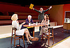 The Trial <br /> by Franz Kafka<br /> adapted by Nick Gill <br /> at The Young Vic Theatre, London, Great Britain <br /> 25th June 2015 <br /> press photocall <br /> Sian Thomas as Mrs Grace <br /> Steven Beard as Uncle Albert <br /> Rory Kinnear as Josef K<br /> Suzy Kaye as Faye <br /> <br /> <br /> Photograph by Elliott Franks <br /> Image licensed to Elliott Franks Photography Services