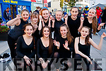 Members of Tenacity School of Dance performing in The Square Tralee, on Friday night to celebrate Culture Night were front l-r: Amy Foley, Sinead Trant, Ava Peevers and Jodie Leahy. Back l-r: Taylor O'Brien, Emily Kerins, Niamh Horgan, Natasha Poff, Jessica O'Grady and Emma Ryan.