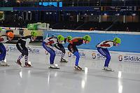 SCHAATSEN: HEERENVEEN: 04-02-2017, KPN NK Junioren, Junioren A Dames Mass Start, ©foto Martin de Jong