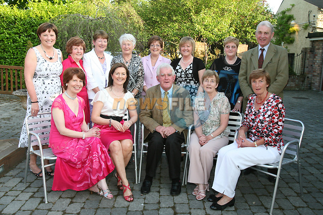 Committee members, Eileen Ferns, Brenda Callan, Mary McGivern, Maggie Rooney, Pat Thornton, Catriona Bellew, May Coyle, Bru Bellew, Heather Kilkelly, Eilish Tierney, John McGrane (president), Sheila Devin and Irene Hoey at the Dunleer Bridge Club 21st Anniversary in Donegans...Photo NEWSFILE/Jenny Matthews.(Photo credit should read Jenny Matthews/NEWSFILE)....This Picture has been sent you under the condtions enclosed by:.Newsfile Ltd..The Studio,.Millmount Abbey,.Drogheda,.Co Meath..Ireland..Tel: +353(0)41-9871240.Fax: +353(0)41-9871260.GSM: +353(0)86-2500958.email: pictures@newsfile.ie.www.newsfile.ie.FTP: 193.120.102.198.