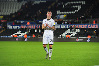 Ben Wilmot of Swansea City applauds the fans at the final whistle during the Sky Bet Championship match between Swansea City and Millwall at the Liberty Stadium in Swansea, Wales, UK. Saturday 23rd November 2019