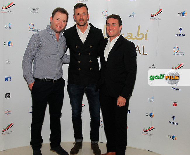 Branden Grace during the 2015 Abu Dhabi Invitational Gala Evening held at The Viceroy Hotel, Yas Island, Abu Dhabi.: Picture Eoin Clarke, www.golffile.ie: 1/25/2015