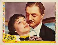 The Great Ziegfeld (1936) <br /> Lobby card with William Powell &amp; Luise Rainer<br /> *Filmstill - Editorial Use Only*<br /> CAP/MFS<br /> Image supplied by Capital Pictures