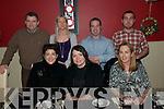 Friend's Reunion: NYE at Fitzgerald's Restaurant, Listowel. were front Niamh O'Keefe, Eileen Deuit & Linda Prendirville, Back: Damien Keown, Denise Keoown, John Prendirville & Ml Prendirville.