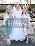 AOIFE kiernan who received her first holy communion in St Brigid's church Dunleer pictured with her sister Mary and cousin Rebecca Doran. Photo:Colin Bell/pressphotos.ie