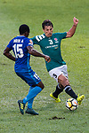 Diego Eli Moreira of Long Lions (R) fights for the ball with Christian Kwesi of SC Kitchee (L) during the Community Cup match between Kitchee and Eastern Long Lions at Mong Kok Stadium on September 23, 2017 in Hong Kong, China. Photo by Marcio Rodrigo Machado / Power Sport Images