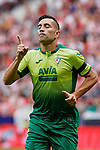 Charles Dias de Oliveira of SD Eibar celebrates goal during La Liga match between Atletico de Madrid and SD Eibar at Wanda Metropolitano Stadium in Madrid, Spain.September 01, 2019. (ALTERPHOTOS/A. Perez Meca)