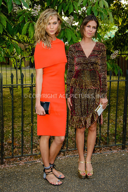 WWW.ACEPIXS.COM<br /> <br /> July 2 2015, New York City<br /> <br /> Karlie Kloss and Dasha Zhukova arriving at The Serpentine Gallery summer party at The Serpentine Gallery on July 2, 2015 in London, England<br /> <br /> By Line: Famous/ACE Pictures<br /> <br /> <br /> ACE Pictures, Inc.<br /> tel: 646 769 0430<br /> Email: info@acepixs.com<br /> www.acepixs.com