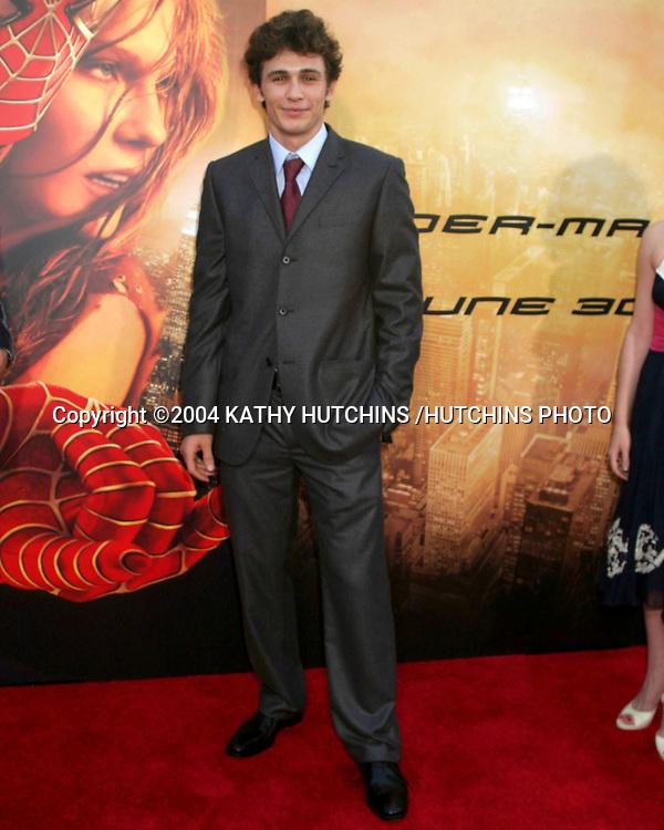 "©2004 KATHY HUTCHINS /HUTCHINS PHOTO.""SPIDERMAN 2"" PREMIERE.WESTWOOD, CA.JUNE 22, 2004..JAMES FRANCO"