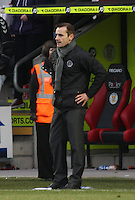 A despondent St Mirren manager Danny Lennon at the end of the St Mirren v Dundee United Clydesdale Bank Scottish Premier League match played at St Mirren Park, Paisley on 27.10.12.