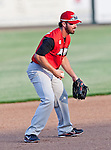 Grand Prairie AirHogs 2nd Baseman David Espinosa (7) in action during the American Association of Independant Professional Baseball game between the Grand Prairie AirHogs and the Fort Worth Cats at the historic LaGrave Baseball Field in Fort Worth, Tx. Fort Worth defeats Grand Prairie 8 to 7...