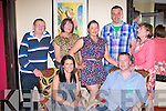 Bill Wiseman Pinewood, Killarney who celebrated his 30th birthday with his family in Lord kenmares restaurant on Saturday night front l-r: Mary Sessions, Bill Wiseman, back row: Andy Wiseman, Margaret Wiseman, Niamh O'Donoghue, Pat O'Donoghue, Mauree Marie Ní Chusna