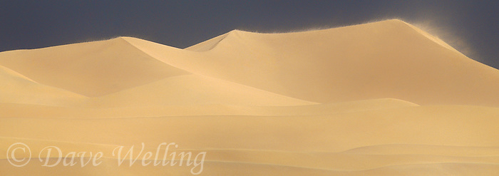 915000007 panoramic view of a wind driven storm whipping up the dunes in mesquite sand dunes in death valley national park california