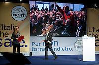 Bergamo: Mario Monti presenta la sua lista Scelta Civica con Monti al kilometro rosso di Bergamo..Nella foto Luca Cordero di Montezemolo