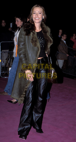 AMANDA DONOHOE.Versace private party at The Victoria & Albert Museum.fur trim coat, leather trousers.Ref: 11869.sales@capitalpictures.com.www.capitalpictures.com.©Capital Pictures