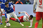 16.03.2019, VELTINS-Arena, Gelsenkirchen, GER, DFL, 1. BL, FC Schalke 04 vs RB Leipzig, DFL regulations prohibit any use of photographs as image sequences and/or quasi-video<br /> <br /> im Bild Sebastian Rudy (#13, FC Schalke 04) Tyler Adams (#14, RB Leipzig) <br /> <br /> Foto © nph/Mauelshagen