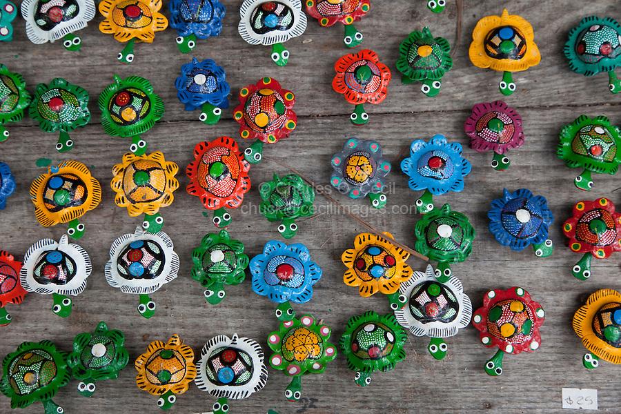 Souvenir Hand-painted Turtles.  Xcaret, Riviera Maya, Yucatan, Mexico.