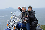 4-5-2017: Husband and wife, Mark and Pauline Lucas from Cahersiveen, County Kerry pictured at Bray Head on Valentia Island along the Wild Atlantic Way and Skellig Ring in County Kerry on Thursday for the launch of Ireland BikeFest Killarney 2017. The three-day festival attracts motorcyclists in their tens of thousands from all over the world who will participate in a number of ride-outs on the Wild Atlantic Way as part of the festival programme. The fantastic scenery, touring routes, hospitality and free live entertainment make it one of the must attend and unique festivals of the year which takes place in Killarney this June Bank Holiday weekend.  <br /> Photo Don MacMonagle<br /> <br /> REPRO FREE PHOTO FROM IRELAND BIKEFEST<br /> Further info:: <br /> <br /> PRESS RELEASE: Get Your Motors Running for Ireland BikeFest <br />