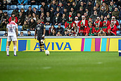 2nd December 2017, Rioch Arena, Coventry, England; Aviva Premiership rugby, Wasps versus Leicester; Some of the fans came in fancy dress