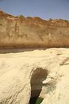 Israel, Negev, a waterhole in Nahal Peres