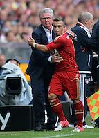 FUSSBALL   1. BUNDESLIGA  SAISON 2012/2013   3. Spieltag FC Bayern Muenchen - FSV Mainz 05     15.09.2012 Trainer Jupp Heynckes wechselt aus  Xherdan Shaqiri (FC Bayern Muenchen)