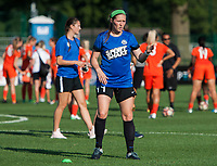Kansas City, MO - Sunday July 02, 2017:  Maegan Kelly stands ready to receive the ball before a regular season National Women's Soccer League (NWSL) match between FC Kansas City and the Houston Dash at Children's Mercy Victory Field.