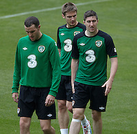POLAND - Gdynia - 07 JUNE 2012 - Republic of Ireland Training Session at Gdynia. Stephen Ward, John O'Shea.