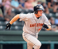 July 21, 2008: Outfielder Mark Gildea (40) of the Hagerstown Suns, Class A affiliate of the Washington Nationals, in a game against the Greenville Drive at Fluor Field at the West End in Greenville, S.C. Photo by:  Tom Priddy/Four Seam Images