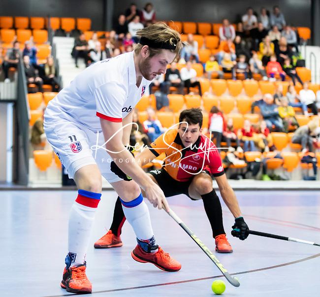 ROTTERDAM  - NK Zaalhockey,   halve finale heren Oranje Rood-SCHC (SCHC wint en plaatst zich voor de finale)  Bram  Weers (SCHC) .  COPYRIGHT KOEN SUYK