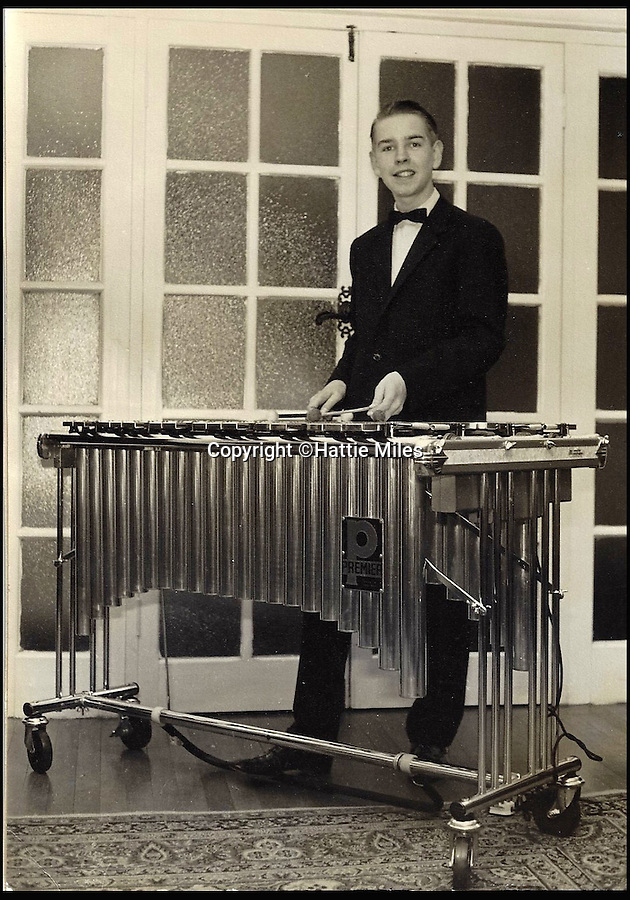 BNPS.co.uk (01202 558833)<br /> Pic: HattieMiles/BNPS<br /> <br /> Paul in 1961 aged 16 with his Vibraphone.<br /> <br /> Mantovani barmy! - Superfan puts on his own concert's so he can play with the band.<br /> <br /> A retired businessman has spent £500,000 pursuing his passion for a 1950s bandleader and pays to put on a concert every 18 months to celebrate his hero.<br /> <br /> Paul Barrett, 70, has spent most of his life following the work of Anglo-Italian violinist and conductor Annunzio Paolo Mantovani and met his music idol several times.<br /> <br /> He has spent a fortune buying original instruments from Mantovani's orchestra and paid £50,000 for the 35mm film and rights to recordings of a 1950s American TV series Mantovani did.<br /> <br /> He also pays £20,000 for each concert to recreate a note-for-note, musician-for-musician replica of the classic Mantovani Orchestra.