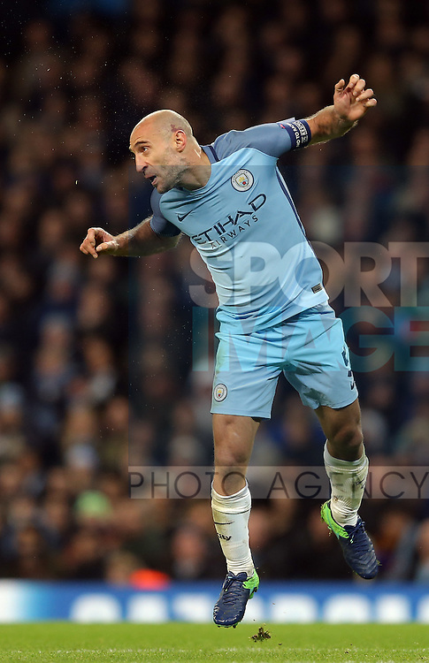 Pablo Zabaleta of Manchester City during the Champions League Group C match at the Etihad Stadium, Manchester. Picture date: November 1st, 2016. Pic Simon Bellis/Sportimage