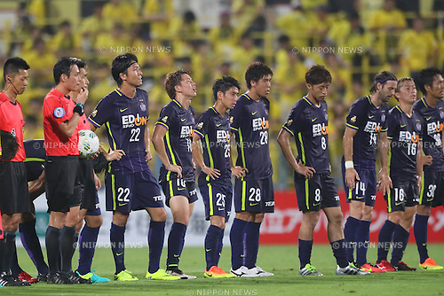 Sanfrecce Hiroshima team group, <br /> JULY 13, 2016 - Football /Soccer : <br /> 2016 J1 League 2nd stage match <br /> between Kashiwa Reysol 3-3 Sanfrecce Hiroshima <br /> at Kashiwa Hitachi Stadium, Chiba, Japan. <br /> (Photo by YUTAKA/AFLO SPORT)
