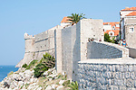 The old city wall of Dubrovnik, Croatia.