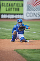 Marco Hernandez (38) of the Ogden Raptors before the game against the Idaho Falls Chukars at Lindquist Field on July 29, 2018 in Ogden, Utah. The Raptors defeated the Chukars 20-19. (Stephen Smith/Four Seam Images)