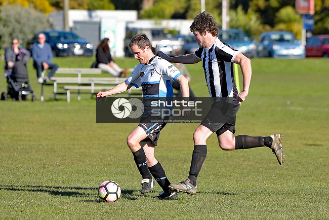 NELSON, NEW ZEALAND - JULY 15: Sprig & Fern Tahuna 2nd v FC Nelson Reserves, Tahunanui, July 15, 2017, Nelson, New Zealand. (Photo by: Barry Whitnall Shuttersport Limited)