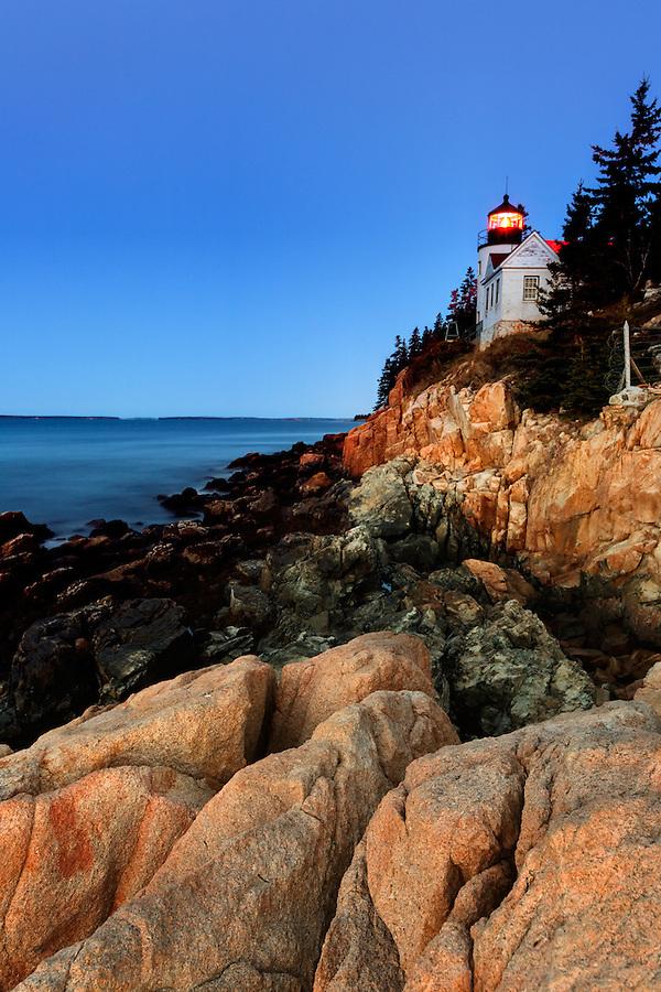 Bass Harbor Head Light, Acadia National Park, Bass Harbor, Tremont, Maine, USA