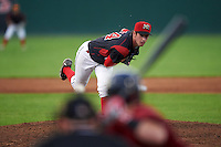 Batavia Muckdogs relief pitcher Chad Smith (34) during a game against the Mahoning Valley Scrappers on August 19, 2016 at Dwyer Stadium in Batavia, New York.  Mahoning Valley defeated Batavia 9-2. (Mike Janes/Four Seam Images)