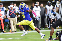 Newark, DE - OCT 29, 2016: Delaware Fightin Blue Hens running back Thomas Jefferson (28) breaks away for a touchdown during game between Towson and Delaware at Delaware Stadium Tubby Raymond Field in Newark, DE. (Photo by Phil Peters/Media Images International)