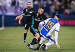 Daniel Ceballos Fernandez, D Ceballos (L), of Real Madrid competes for the ball with Diego Rico Salguero of CD Leganes during the Copa del Rey 2017-18 match between CD Leganes and Real Madrid at Estadio Municipal Butarque on 18 January 2018 in Leganes, Spain. Photo by Diego Gonzalez / Power Sport Images