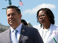 United States Representative Raul Ruiz (Democrat of California) discusses the need for better humanitarian rights for refugees at the United States border in Washington D.C. on June 12, 2019.<br /> <br /> Credit: Stefani Reynolds / CNP/AdMedia